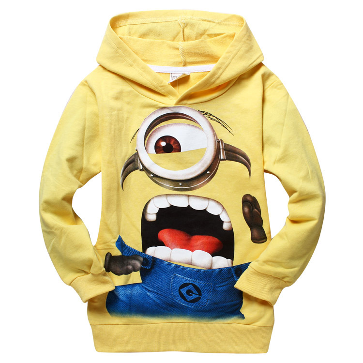 Boys clothes despicable me 2 minion child spring autumn hoodies Tops Tees cartoon minions Sweater T shirt baby boy clothes Футболка
