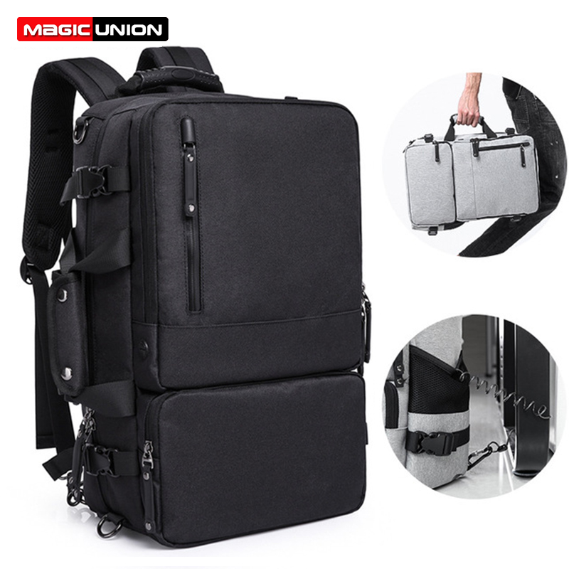 MAGIC UNION Multifunctional Backpack For Men 17 3 inch Laptop Bag Large Travel Bagpack 3 in1