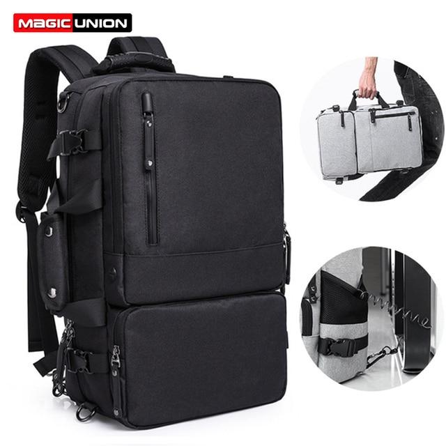 MAGIC UNION Multifunctional Backpack For Men 17.3 inch Laptop Bag Large Travel Bagpack 3 in1 Mochila Hombre Shoulder Bag