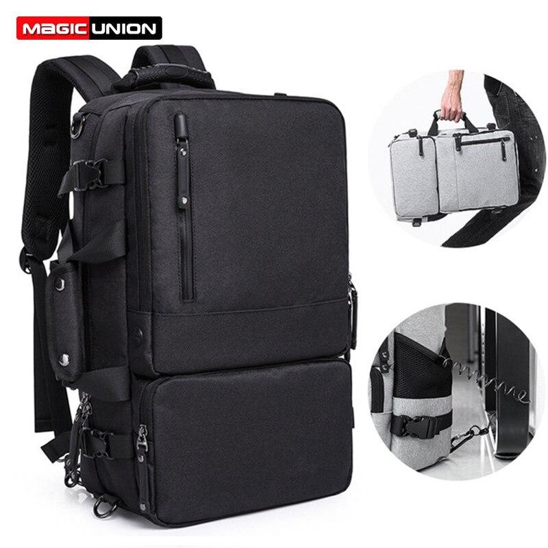 MAGIC UNION Multifunctional Backpack For Men 17.3 inch Laptop Bag Large Travel Bagpack 3 in1 Mochila Hombre Shoulder Bag doctor bag