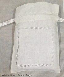 240 Pz/lotto Moda Regali Borse Solo 4 x6 lino Bianco Sacchetti di Favore Può Collection Bel Matrimonio regali Ideali per Piccoli Doni