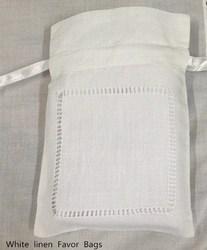 240 Stks/partij Mode Geschenken Zakken Alleen 4 x6 Wit linnen Favor Tassen Kan Collection Mooie huwelijksgeschenken Ideaal voor Kleine Geschenken