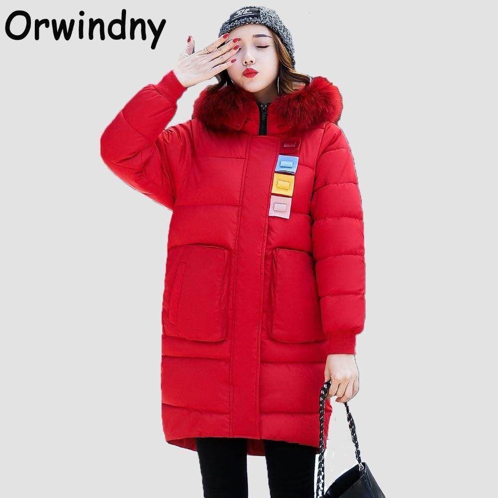 Orwindny Loose Women Winter Coat Plus Size Warm Cotton ...