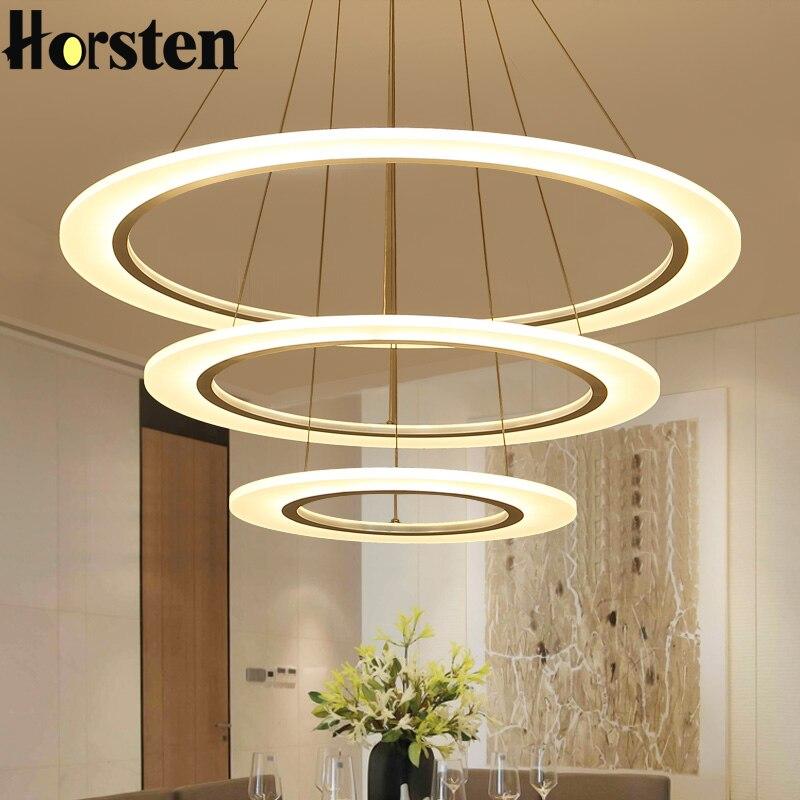 Modern LED Pendant Lights Kitchen Acrylic Metal 3 Rings Hanging Ceiling Lamp Creative Pendant Light for Dining Room Restaurant цена 2017
