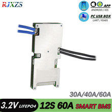 Smart bms 12S 60A 36v neue Lifepo4 smart bms pcm mit android Bluetooth app UART bms bluetooth wi software (APP) monitor