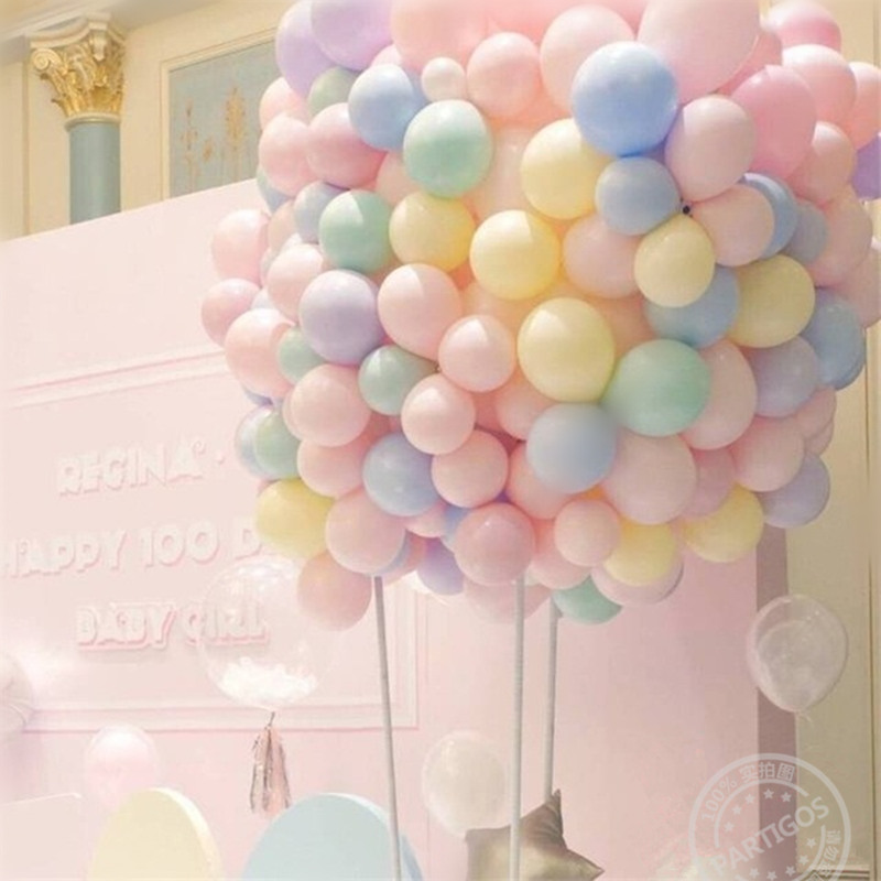 100pcs 10inch Latex Balloons Macaron Color Balloons Wedding Decoration Birthday Party Decorations Kids Globos Babyshower Deco