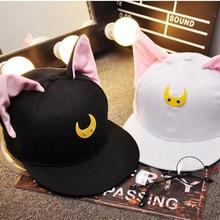 b5171dbbefad7d 2017 cap caps baseball hat anime Sailor Moon carton ox horn cosplay  accessories free shipping summer