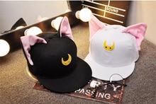 2017 колпачки крышка бейсбол шляпы аниме Сейлор Мун коробка бык рогом cosplay аксессуары бесплатная доставка лето