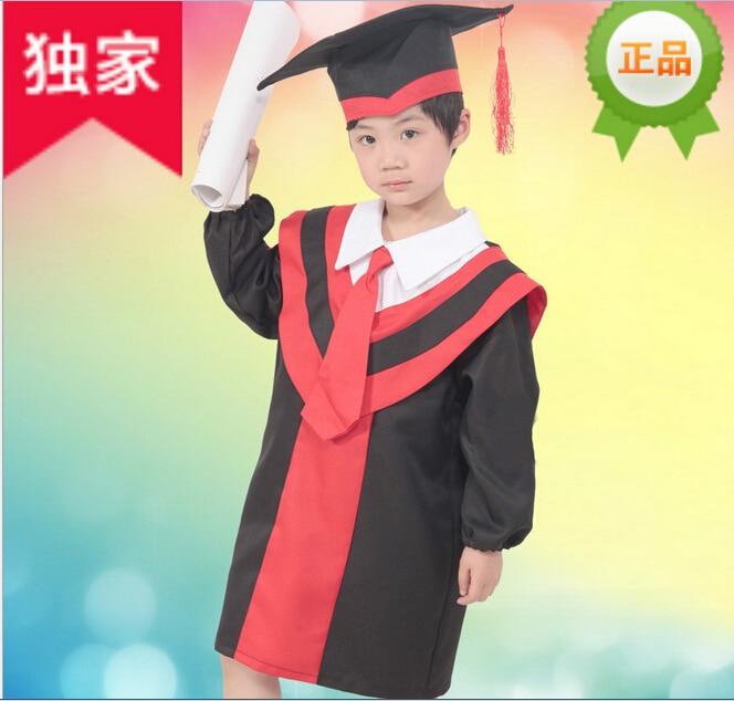 Black Graduation Cap and Gown Set Pre K Kindergarten Children Kids ...