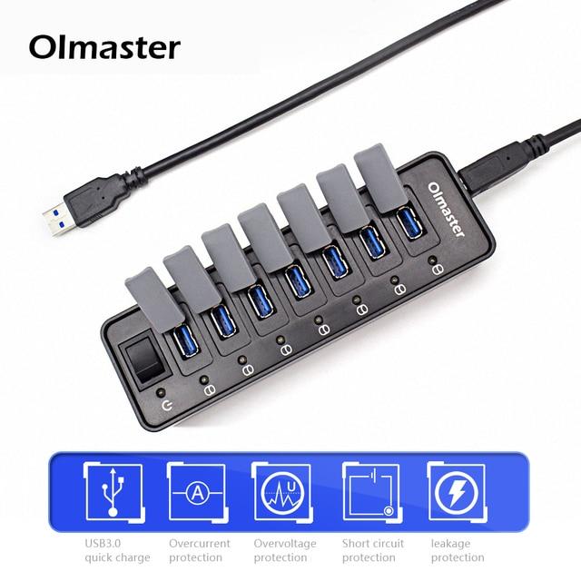 oimaster 12v 2 0a high speed usb 3 0 hub 7 ports portable usb hub rh aliexpress com