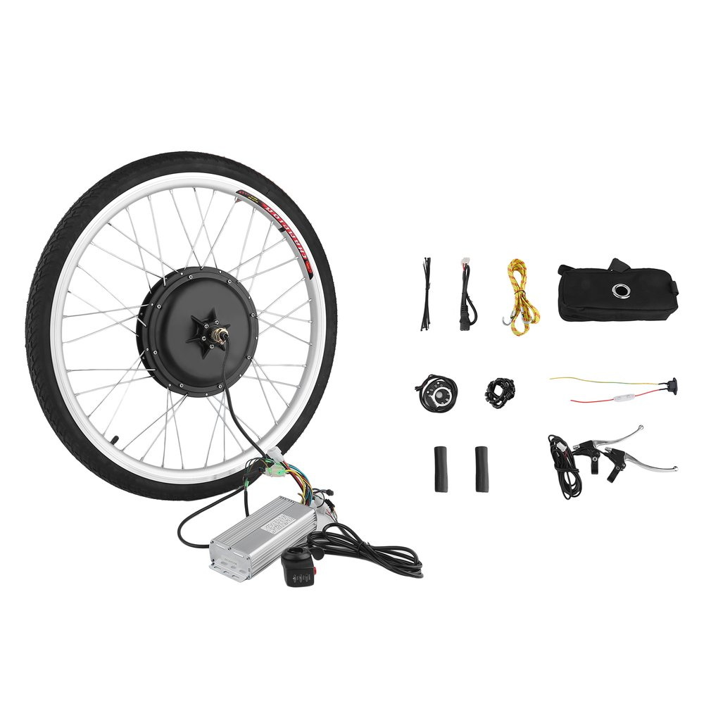 36V 500W Powerful 26 Inch Electric Bicycle E-Bike Motor Conversion Kit Rear Wheel Cycling Hub Bike Accessories
