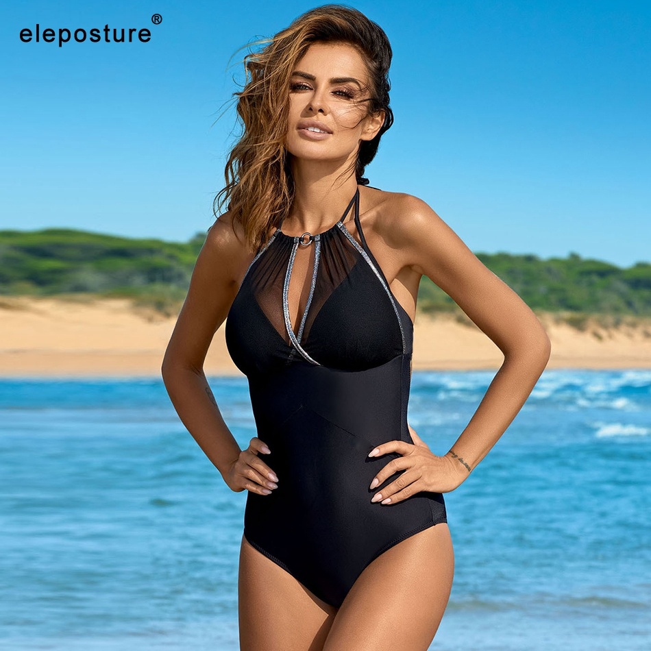 2019 New Sexy One Piece Swimsuit Plus Size Swimwear Push Up Monokini Bathing Suits Summer Beach Wear Swimming Suit For Women XXL