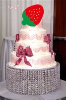 wedding transparent acrylic Cake Stand chandelier,Table Centerpiece Diameter 35cm by height 20cm