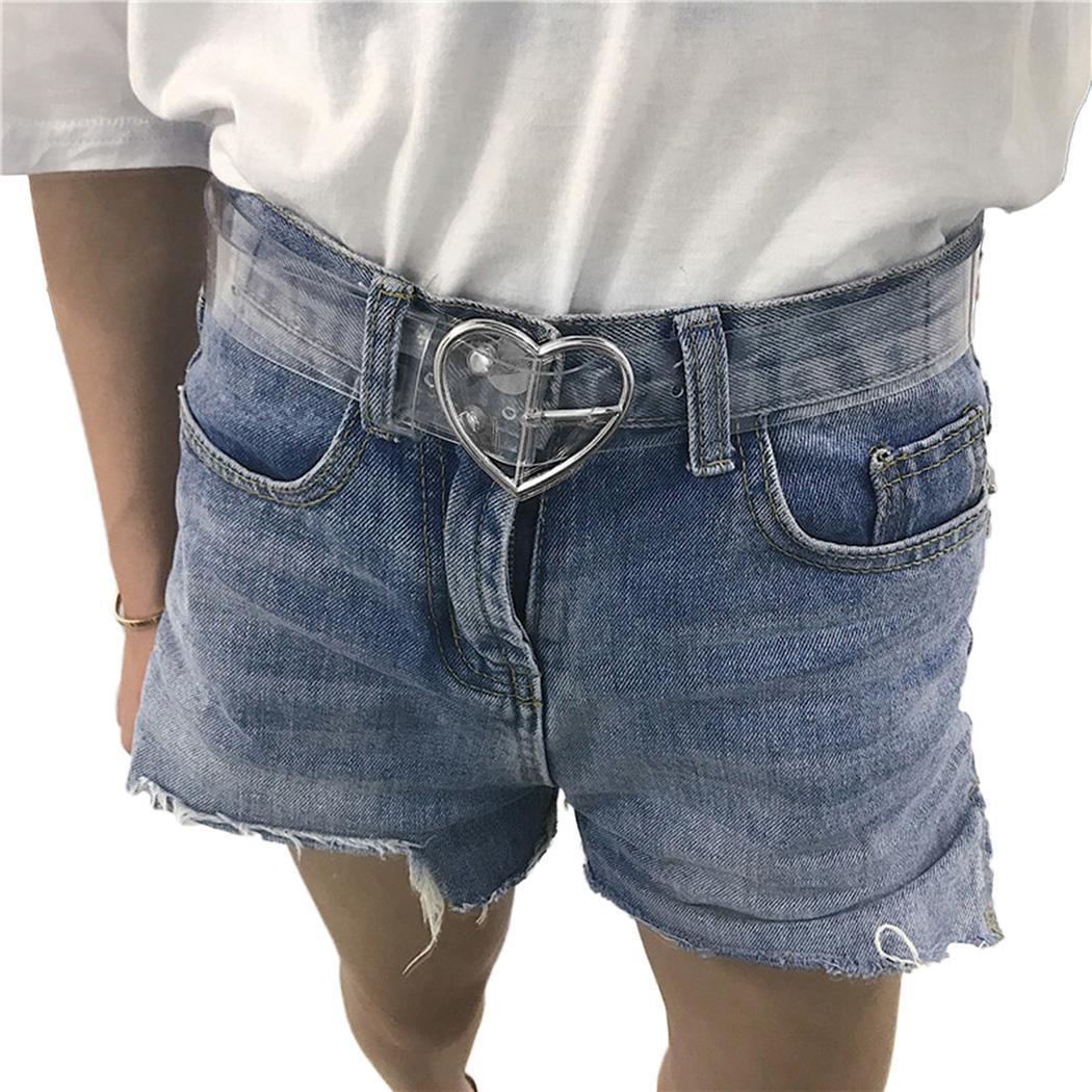 Waist   Belts   Women Resin Transparent Long   Belt   Adjustable Waist Dress band Transparent   Belt   Heart Buckle Cinturon Mujer   Belt