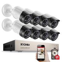ZOSI HD 2MP Video Surveillance CCTV System 8CH Full HD 1080P HD TVI DVR Kit 8