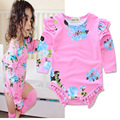 Long-sleeved Newborn Baby Flower bodysuits Fashion baby clothes