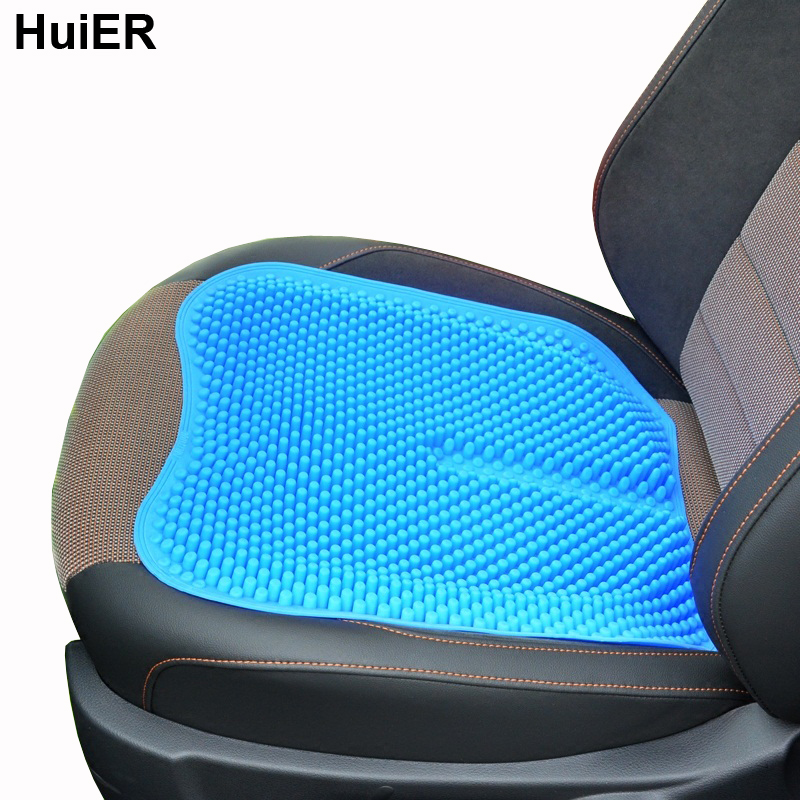 huier car seat cushions massage high memory silicone breathable mesh silica gel auto car seat covers - Car Seat Cushions