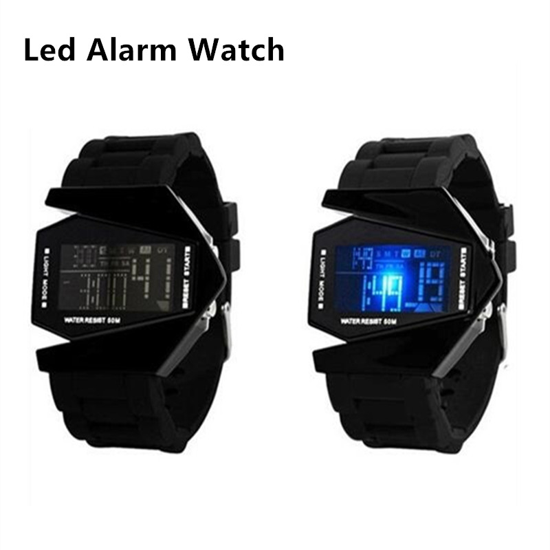 Fighter Led Digital Watches Alarm Clock Men Sport Children Wrist Watch Kids Date Silicone Luminous Military