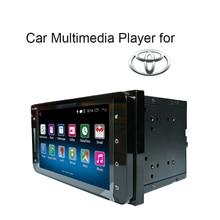 Sistema Android 5.1 2 DIN 7 pulgadas de Coches Reproductor de radio Multimedia para COROLLA CORONA REIZ CAMRY RAV4 PRADO TFT Pantalla Táctil Capacitiva