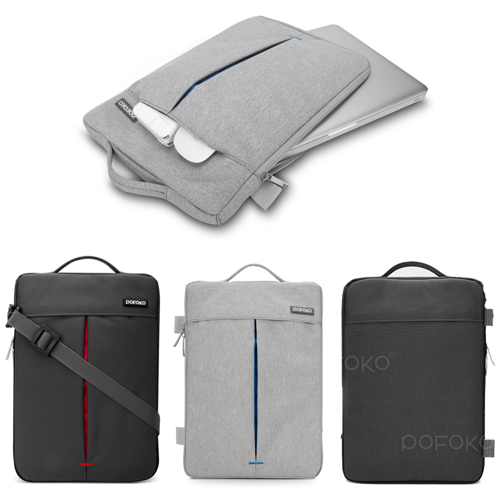 все цены на POFOKO brand Laptop Shoulder Bag case Pouch For surface Pro 3 4th surface book carry bag for MacBook Pro/ DELL XPS 11 13 15 inch онлайн
