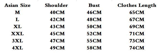 GVN Rocks Men's Vintage Mandarin Collar Long Sleeve T-Shirt Size Chart