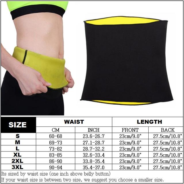 Women's  Thermo Sweat Neoprene Shaper Slimming Belt Waist Cincher Girdle for Weight Loss Neoprene Waist Trainer Corset Belt 4