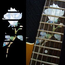 Fretboard Markers Inlay Sticker Decals for Guitar – Single Rose