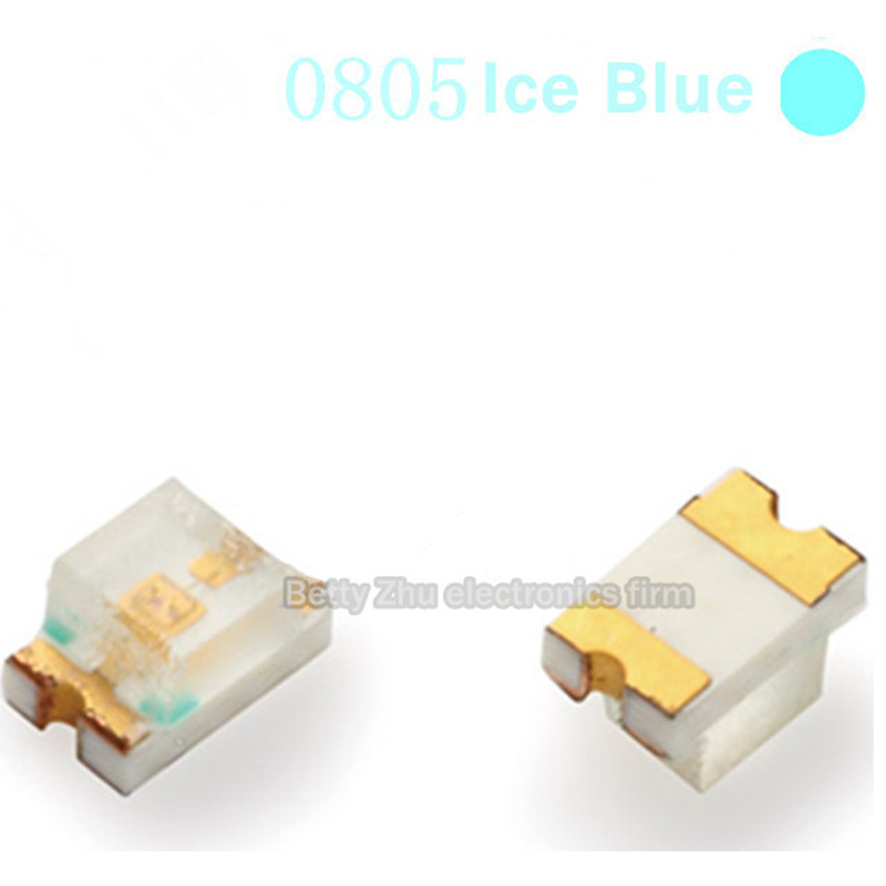 500PCS/LOT SMD <font><b>LED</b></font> 0805 Light Blue Ice Blue lamp beads 485-<font><b>490nm</b></font> 2012 image