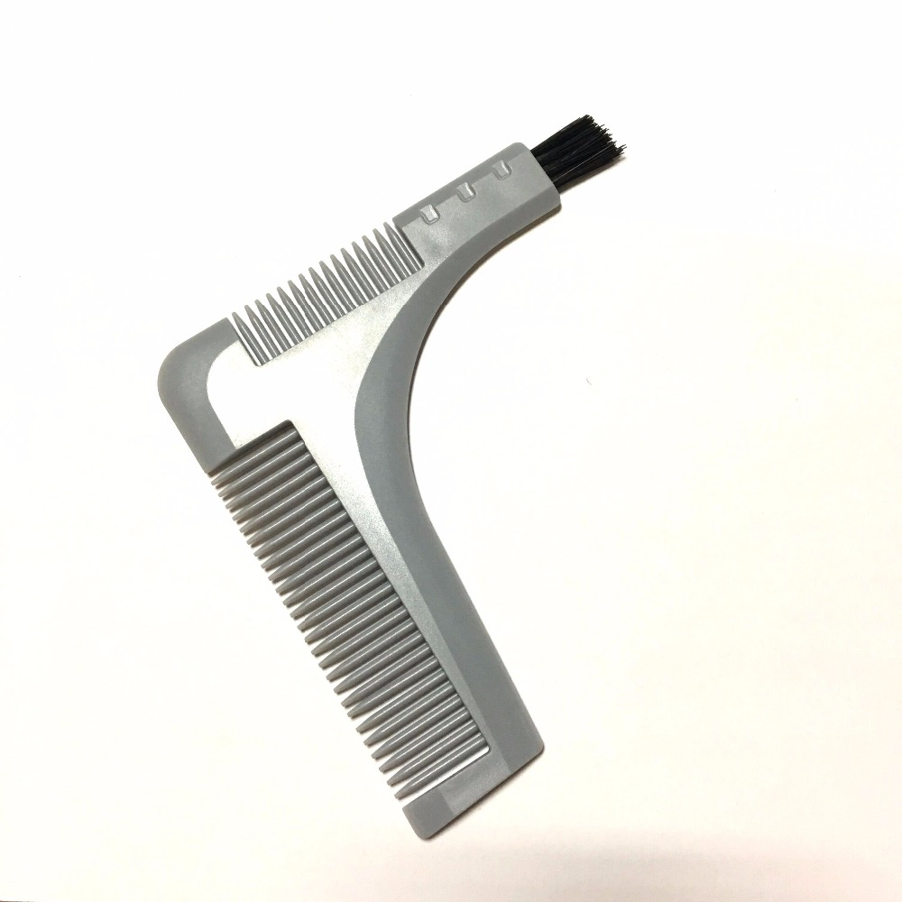 Good Quality Two Sides Metal Beard Trim B Shaper As Styling Template Hairline