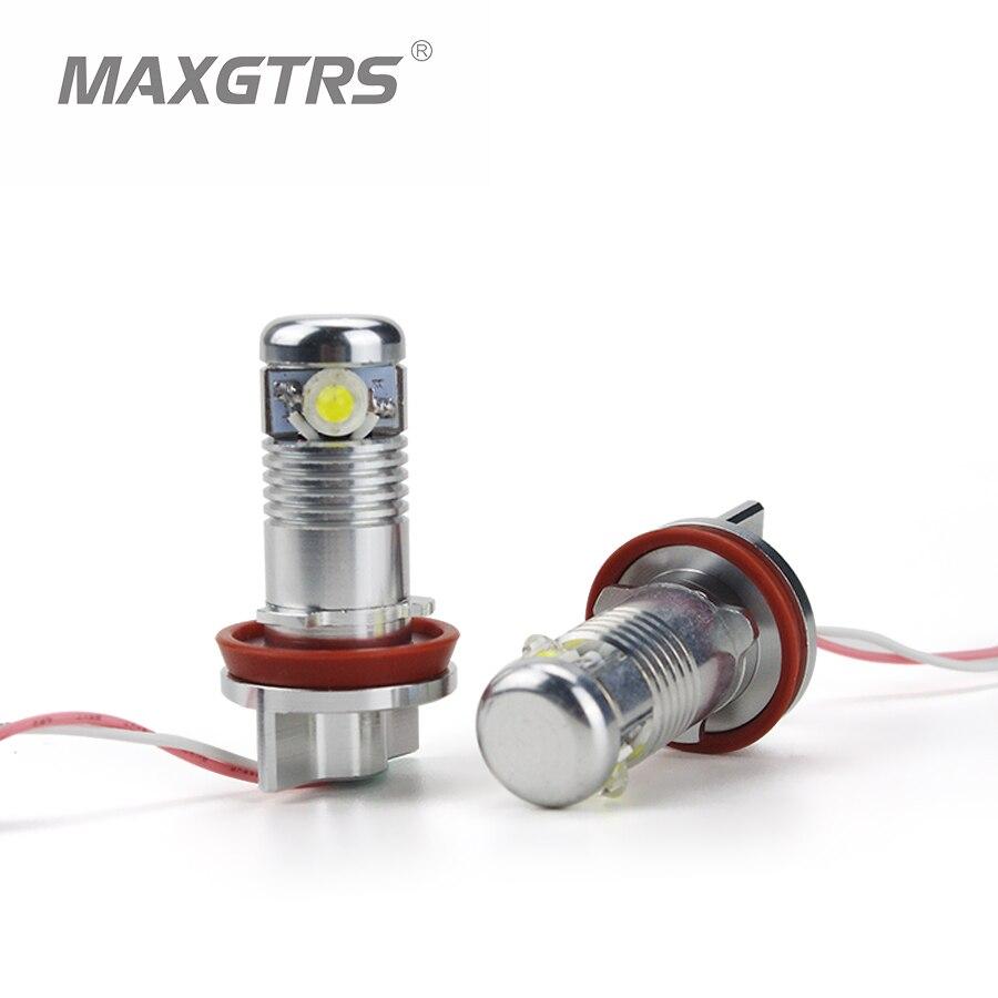 1 Set 2x6W 12W H8 Angel Eyes 7000K LED Marker White/Blue/Red For BMW E82 E87 E90 E91 M3 E92 E60 E61 E63 E64 E84