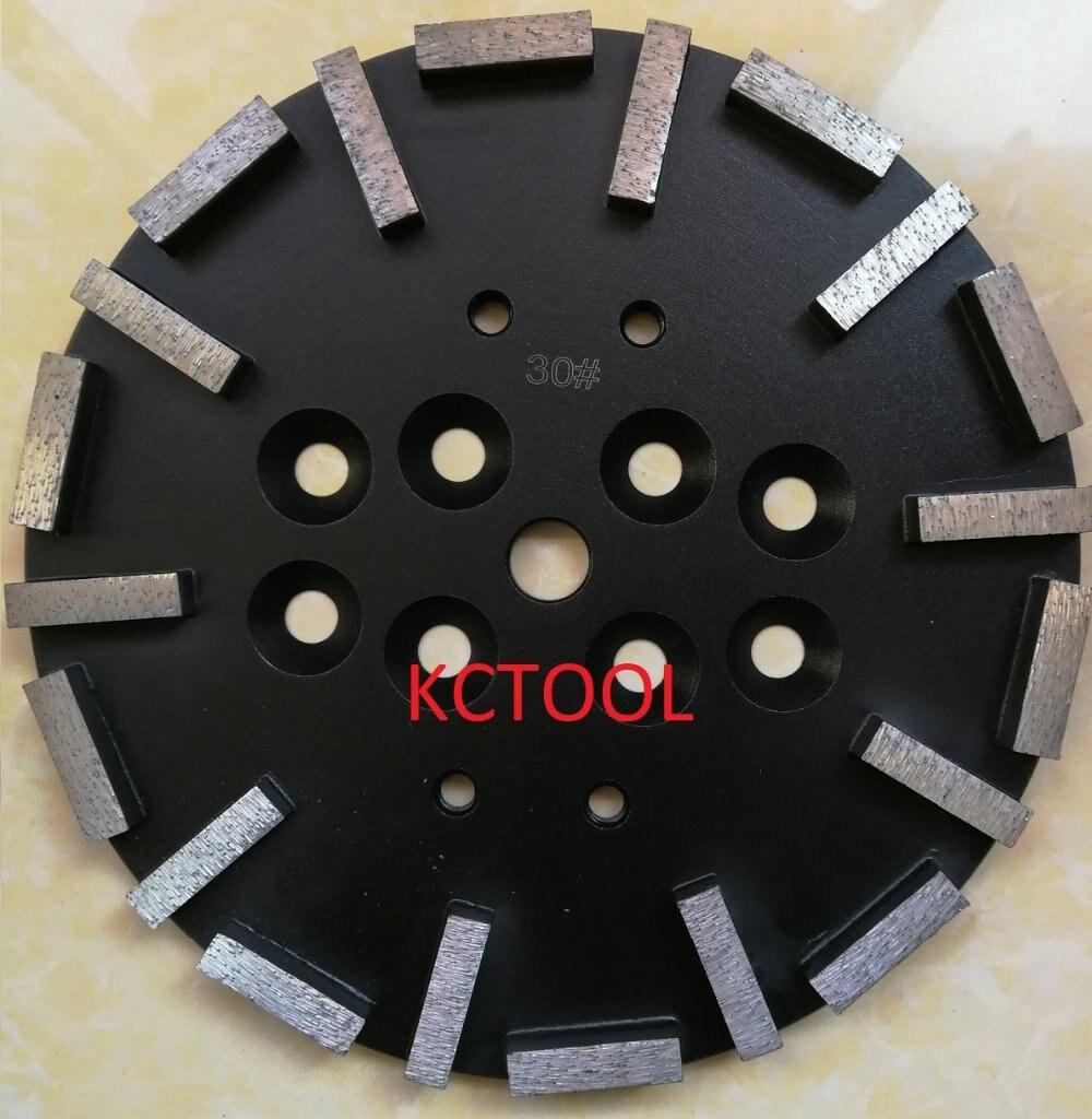 10 Segment Concrete Floor Grinding Disc 250mm*25.4mm*40*10*10mm iphuck 10