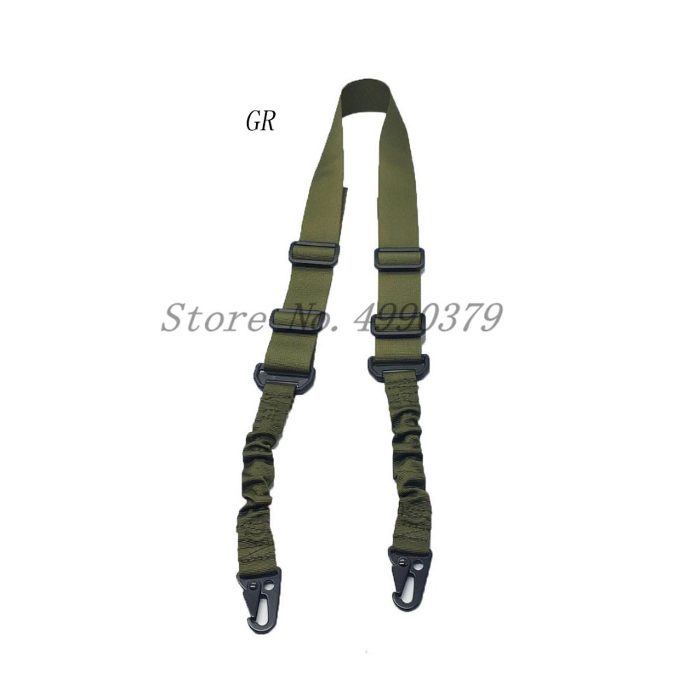 Image 2 - Mayitr Military Heavy Duty Gun Belt Strap Tactical 2 Points Nylon Bungee Rifle Sling Outdoor Gun Accessories-in Hunting Gun Accessories from Sports & Entertainment