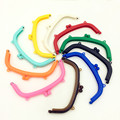 10 Candy Colors Fashion Purse Coin Bag Plastic Arc Frame Kiss Clasps 16cm DIY Handbag Handle Findings
