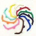10 Cores Doces Moda Bolsa Saco Da Moeda de Plástico Arco Quadro Beijo Fecho 16 cm DIY saco de Lidar Com Bolsa Achados