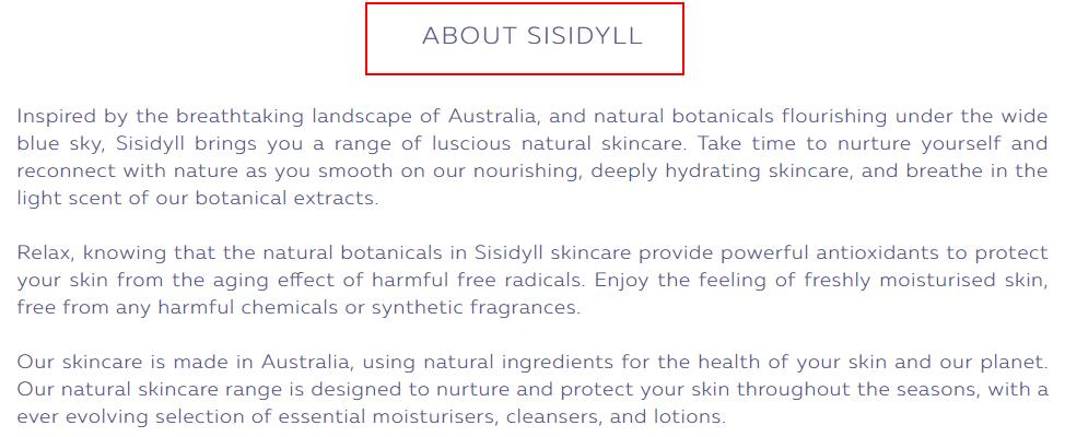 ABOUT SISIDYLL