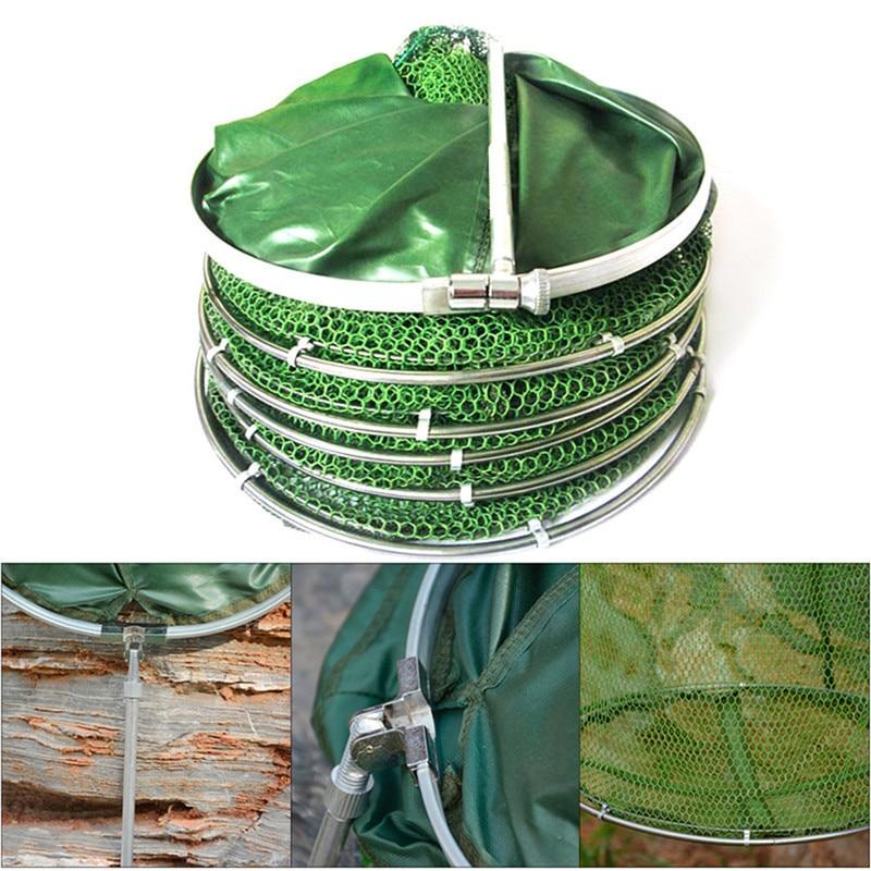 Folding Fishing Net Tackle Aluminum Ring Edge Quick-drying Shrimp Net Fish Glue Shrimp Cage Fishing Net Tackle Acceriess 15m 2m