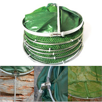 Folding Fishing Net Tackle Aluminum Ring Edge Quick Drying Shrimp Net Fish Glue Shrimp Cage Fishing