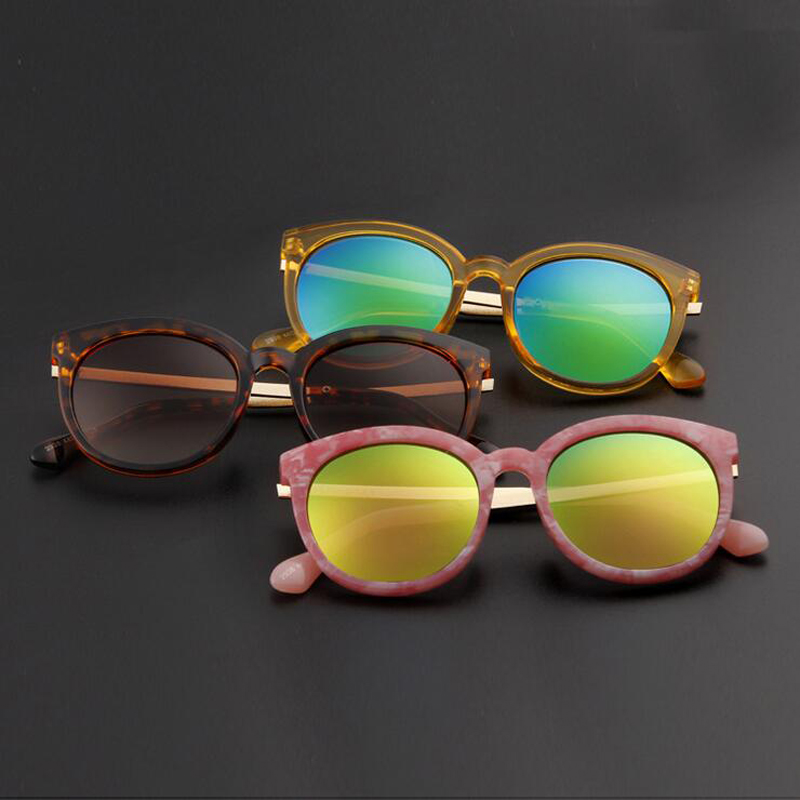 sunglasses for girls oiie  2017 Fashion Kids Alloy Sunglasses Children Boys Girls UV400 Vintage Round  Sun Glasses UV400 Sun Shade