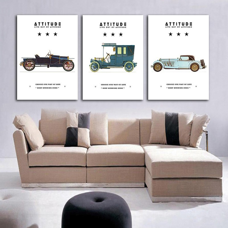Retro Vintage Classic Car Posters Nordic Simple Canvas Painting Modern Home Decoration Living Room Wall Art Pictures Unframed Painting Calligraphy Aliexpress