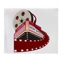 Theater Cinema Film Soft Fleece Throw Blanket Solid 350G Thicker Blankets on Sofa/Bed Throw Blanket