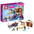 El Trineo de Santa Claus SY372 Elsa Princesa Anna Kristoff Lepin Aventura Ladrillos Bloques de Construcción Figuras Chicas juguetes para niños 41066