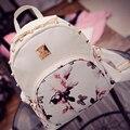 Butterflies in Love with Flowers Hot sale Summer 2016 famous designer women's bag women leather backpacks girl school travel bag
