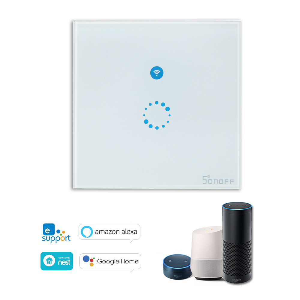 Sonoff T1 3 Gang Smart Wifi Wall Light Switch Rf  App  Touch