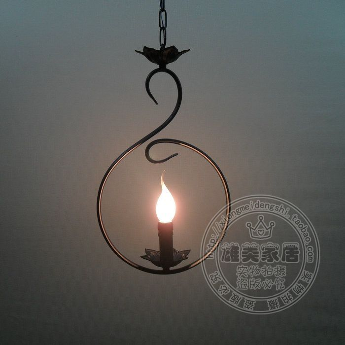 Personalized pendant light brief vintage iron american living room lights table restaurant lamp lighting rustic