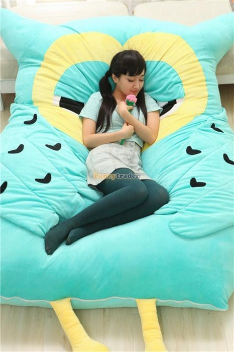 Fancytrader 200cm X 150cm Huge Giant Cute Hoot Owl Tatami Bed Carpet Sofa, Gift For Girls, Free Shipping FT90291 (3)