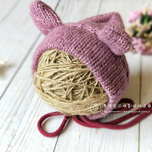Newborn baby girl boy Photography Props Cute Cheap Knit Romper + Hats Photo  Shoot Prop Accessories Winter White Clothes Rompers