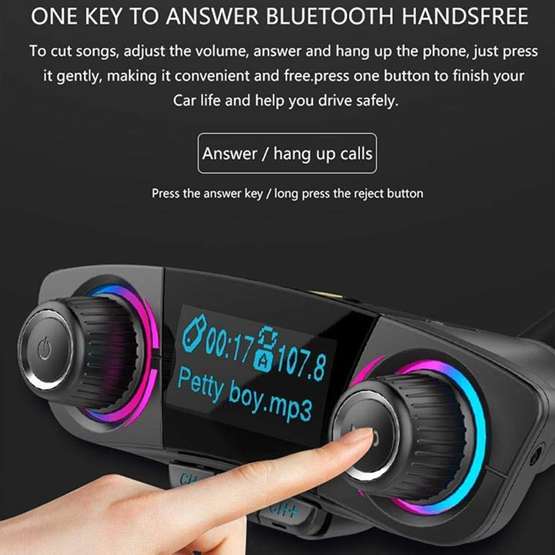 Button Victsing Bluetooth Fm Transmitter — Totoku