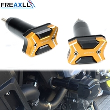 цена Moto Accessories CNC Engine Guard Pad Frame Crash Pad Engine Case Sliders Protector For Yamaha MT-07 MT07 FZ-07 FZ07 2014-2016