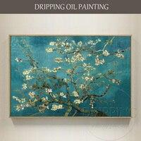Reproduction Vincent Van Gogh Art Painting Blossom Almond Oil Painting Hand painted Van Gogh Blossoming Almond Tree Oil Painting