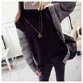 NEW hot sale women's autumn winter thick turtleneck loose knit sweaters woman college wind casual pullovers coats